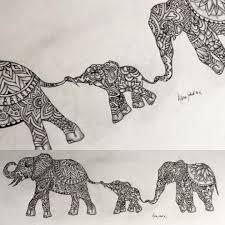 Indian Art Tattoo Designs Original Indian Elephant Zentangle Tattoo Design By Alpinejoker