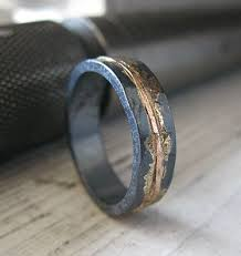 unique mens wedding band wedding band rustic wedding band by hotroxcustomjewelry