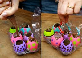 easter gift ideas painted eggs adults melted chocolate