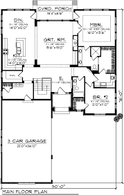 ranch floor plans with 3 car garage house plan 73138 at familyhomeplans com