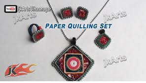 quilling earrings set diy paper quilling jewelry set how to make jk arts 382