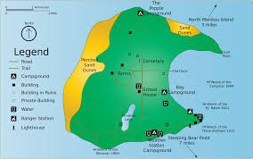 Spirit Route Map by Sleeping Bear Dunes Maps Npmaps Com Just Free Maps Period