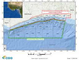 Ivory Coast Map Cgg Secures Ivory Coast Multi Client Survey Deal Subsea World News