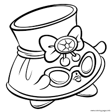print hat shady and sunglasses shopkins season 3 coloring pages