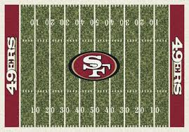 49ers Home Decor by Milliken Area Rugs Nfl Home Field Rugs 01079 San Francisco 49ers