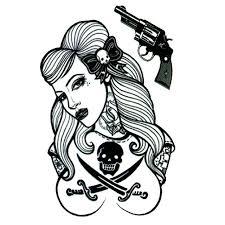 yeeech temporary tattoos sticker for pirate