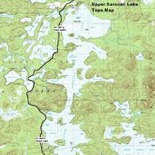 Lake Placid New York Map by Ny Route 30 The Adirondack Trail Upper Saranac Lake Topographic Map