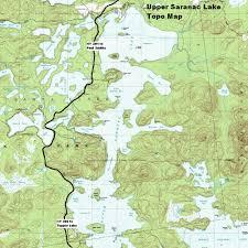 Malone Ny Map Ny Route 30 The Adirondack Trail Upper Saranac Lake Topographic Map