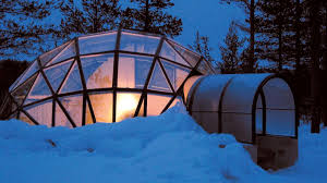 finland northern lights hotel glass igloos give visitors a chance to see the northern lights up