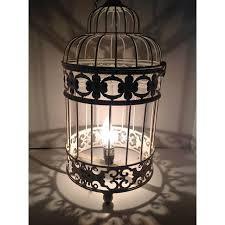Shabby Chic Designer by Designer Metal Shabby Chic Bird Cage Lamp Chairish