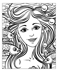 free detailed coloring pages for adults free coloring page coloring mermaid by natuskadpi mermaid