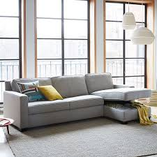 West Elm Henry Leather Sofa Excellent Henry 2 Pull Sleeper Sectional W Storage
