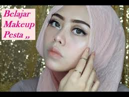 tutorial makeup natural hijab pesta belajar makeup pesta tutorial hijab pesta ayyunazzuyyin
