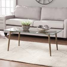 Glass Coffee Table With Wheels Glass Coffee Tables You Ll Wayfair