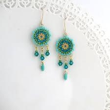 Beaded Turquoise Chandelier 540 Best Beaded Earrings Images On Pinterest Beaded Earrings