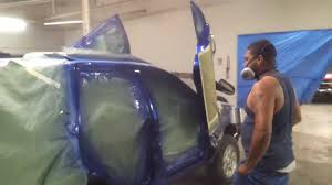 putting on that real candy cobalt blue paint door youtube