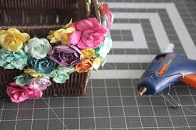 Flowers To Go Flower Embellished Basket The Sewing Rabbit