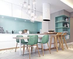 idee couleur cuisine ouverte inspiration déco pour une cuisine ouverte blanc turquoise