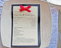 One Page Wedding Program Wedding Weekend Booklet 4 To 8 Page Wedding Program