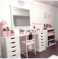 Make Up Tables Vanities Makeup Table Vanity Note The Shelf On The Right Side Of The Desk