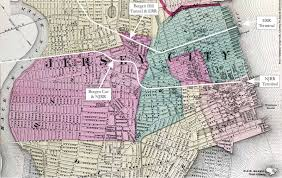 Map Of Jersey City Bergen Hill Tunnel And Waldo Tunnel Rrs U0026 Jersey City