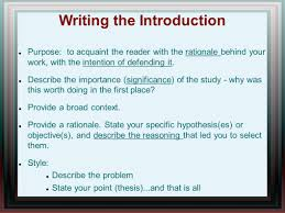 describe thesis writing a research paper ppt video online download 38 writing the introduction