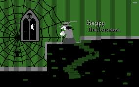 cat halloween wallpaper witch in her castle walldevil