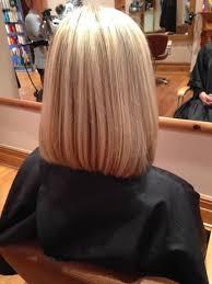 front and back views of medium length hair shoulder length hairstyle back view blunt shoulder length bob