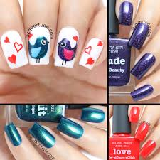 valentine u0027s day love birds nail art u0026 tutorial feat picture
