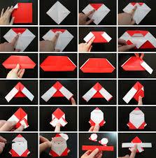 How To Make A Origami Santa - origami santa napkin ring marmite et ponpon