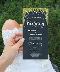 Chalkboard Wedding Program Template Wedding Program Inspiration Natural Navy Wedding Program