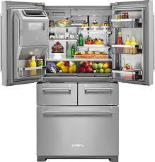 kitchen aid kitchenaid 25 8 cu ft 5 door french door refrigerator silver