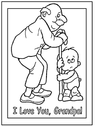grandparents coloring pages print color family