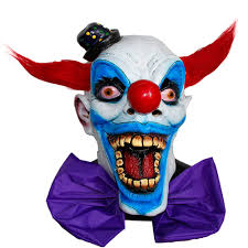 scary clown halloween mask x merry toy giggles joker clown costume mask creepy evil scary
