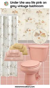 12 ideas to decorate a pink and gray vintage bathroom retro