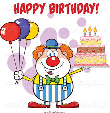 wedding invitation clown birthday greeting card vector show clowns circus clipart of a clown with party balloons and a cake with