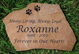 dog grave markers 12 touching pet memorial stones in memory of pet tributes