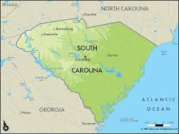 map of carolina geographical map of south carolina and south carolina geographical