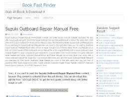 35 suzuki outboard repair manual free