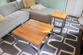 matching coffee table and end tables remodelaholic build a modern coffee table and matching end tables