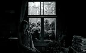 scary doll house wallpaper