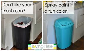 a trash can plan painting our cheap plastic kitchen spray ooferto