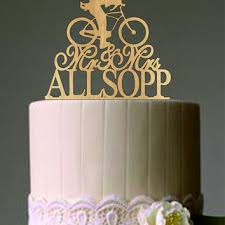 bicycle cake topper custom wedding cake topper mr and mrs from caketoppersshop667 on