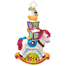 christopher radko ornaments 2014 radko rocking ornament