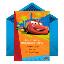 design online invitations cars party online invitation disney family