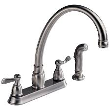 p99596 ss two handle kitchen faucet