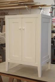 White Lacquered Sideboard Handmade Warm White Lacquered Shaker Vanity By Ziegler Woodwork