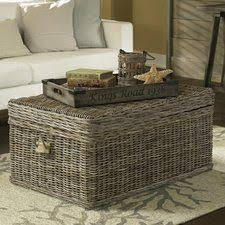 lift top trunk coffee table rattan wicker lift top trunk coffee tables you ll love wayfair