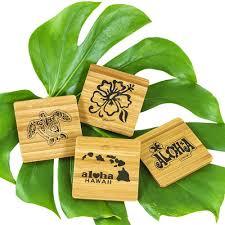 home accessories island home bamboo coaster