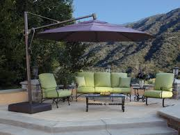 Cantilever Patio Umbrella With Base Treasure Garden Cantilever Aluminum 13 Foot Wide Crank Lift Tilt